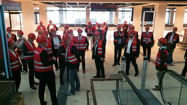 Prior to the press conference on digitalization the ACD members visited the construction site of the still unfinished Berlin-Brandenburg Airport (BER) which is supposed to go online in Q4 of 2020 – if all goes well!  -  photo: hs