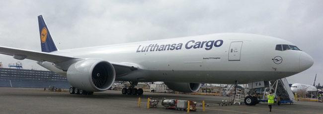 Lufthansa Cargo B777F - courtesy Heiner Siegmund