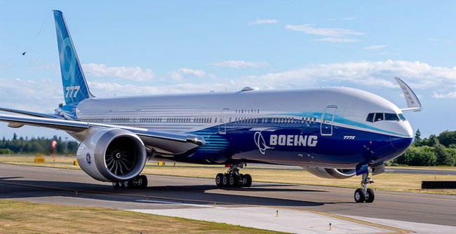 First test-flight of new B777X / B779  /  Image -  courtesy of Boeing website