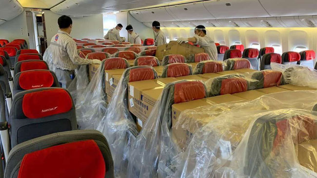 AUA grants cargo window seats  -  photo: credit Austrian Airlines