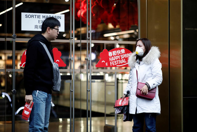 Shopkeepers in Paris (pictured here) report an abrupt drop-off in visitors as China tries to contain the fast-spreading coronavirus health crisis hitting the country hard – courtesy Todayonline.