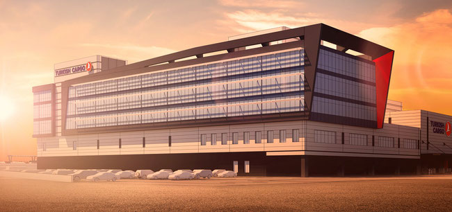 Image of Turkish Cargo's future headquarters at New IST hub