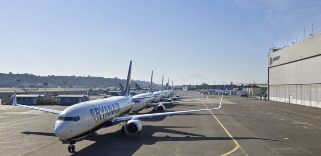 Ryanair B737-800s lining up for P2F conversion? courtesy FR