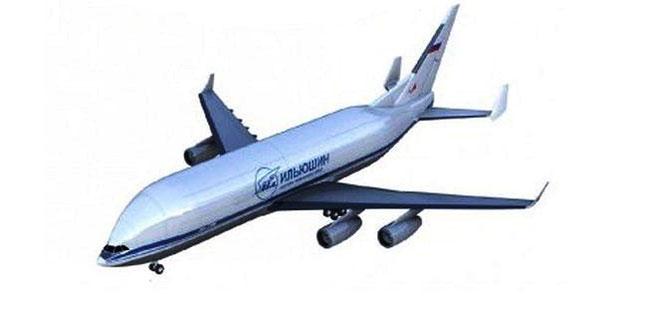 Animation of the projected Ilyushin-96-500 transporter - courtesy: IL