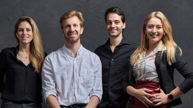 CargoAi team (l > r): Mathilde Rocquigny, Matt Petot, Francois-Xavier Gsell, Elena Volkova
