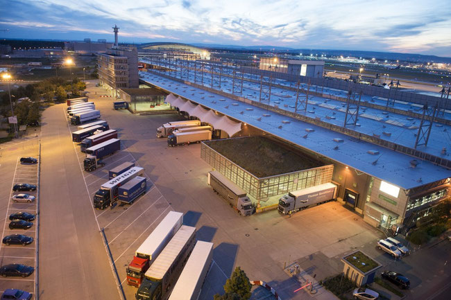 Frankfurt Cargo Service is the largest freight handler at FR. Pictured here is their freight terminal at the airport's southern side  -  Courtesy: FCS