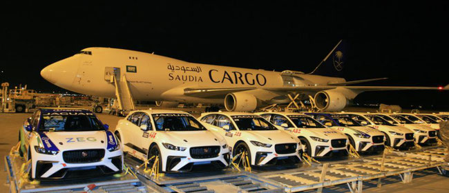 Saudia Cargo transported 58 racing cars from Europe to Riyadh