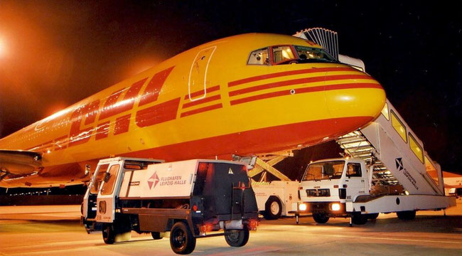 Another capacity provider is DHL; pictured here is one of their Boeing 757 freighters  -  photo: hs