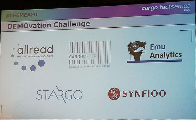 Introducing the 5 DEMOvation competitors. Slide at #CFEMEA20. Images: CFG-Gledhill