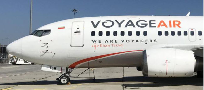 One of Voyage Air's two B737-500s  -  image: Stefan Ivanov