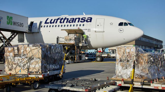 Lufthansa A330-300 pax aircraft currently utilized as freighter -  image courtesy LH Cargo