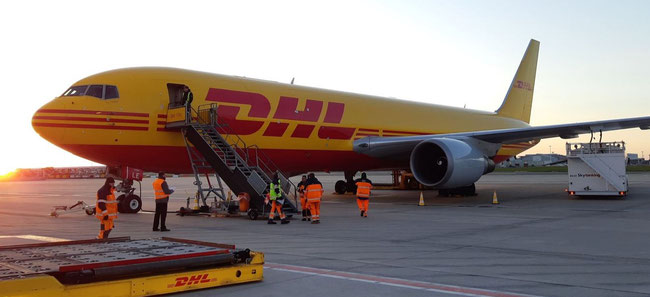 DHL Aviation operates B767 freighters on the new Brussels-Miami roundtrips  -  image courtesy DHL