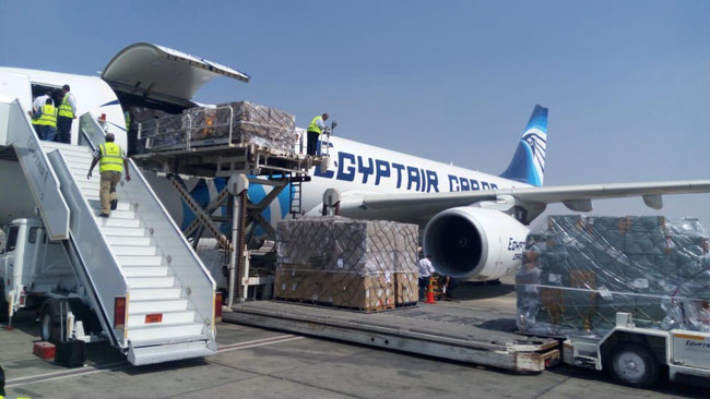 Egyptair Cargo starts serving the route CGN-CAI-JNB soon, operating Airbus A330P2F converted aircraft as seen here