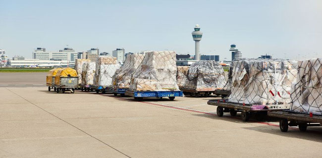 Freight can move freely during COVID-19. Image courtesy of Schiphol Airport