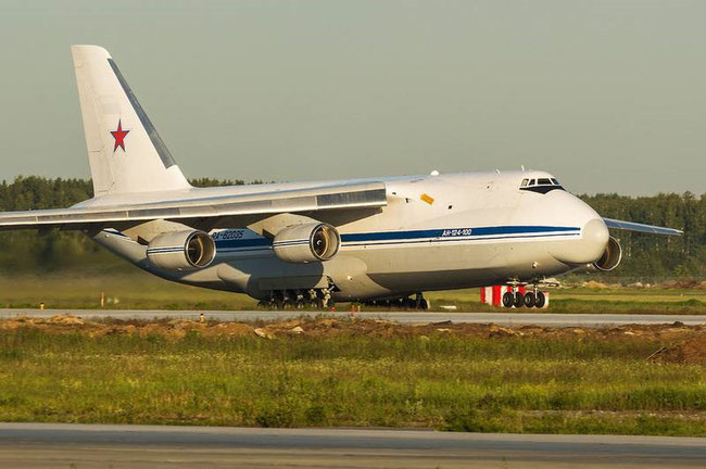 AN-124-100M operated by the Russian military  -  courtesy WeapoNews
