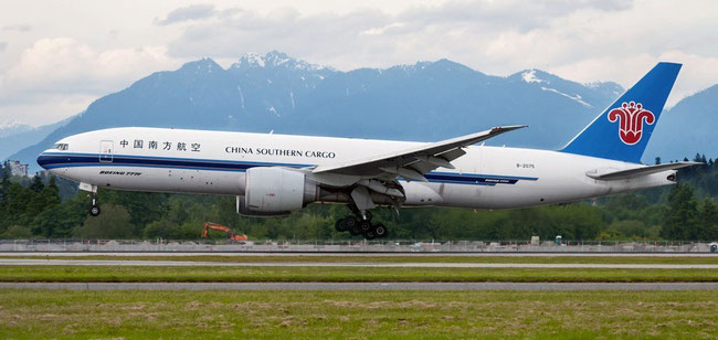 China Southern operates 12 B777 freighters