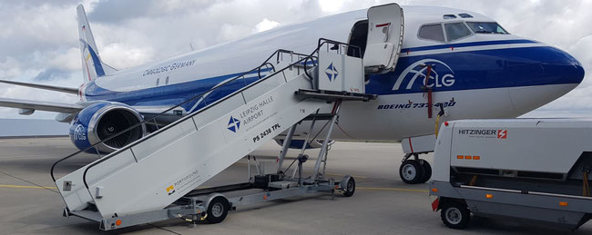 Pictured is one of CargoLogic Germany's three B737-400Fs, all converted from Pax to Cargo (P2C)  -  pictures: hs