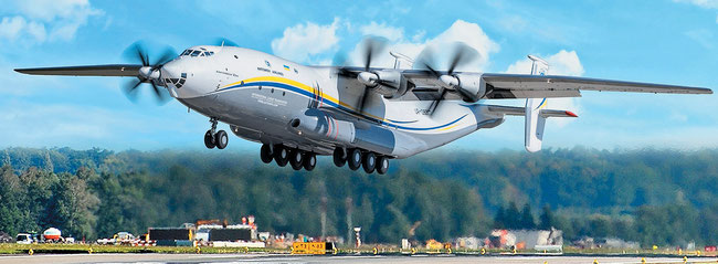 The world's largest propeller driven freighter, belonging to Antonov Airlines, resumes operation  -  photo: AN