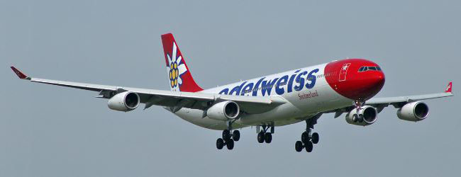 Cancun is served by an Edelweiss operated A340-300 with Swiss WorldCargo marketing the lower deck capacity of the Edelweiss fleet  -  company courtesy