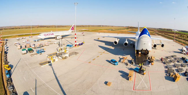Cargo is going strong at Budapest Airport  -  image courtesy of BUD