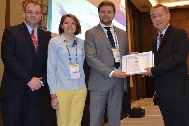 Photo (L to R): Brian Scarry – IATP / Yulia Slyusavea – ABC / Vladimir Seleznev – ABC / San Lucktong - IATP Chairperson