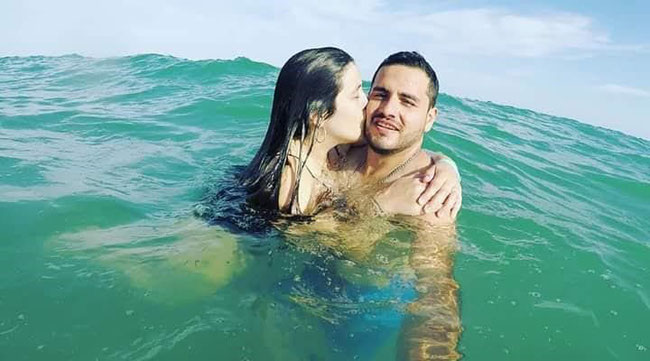Marcelo and girlfriend enjoying a swim in Cuban waters – pre corona!