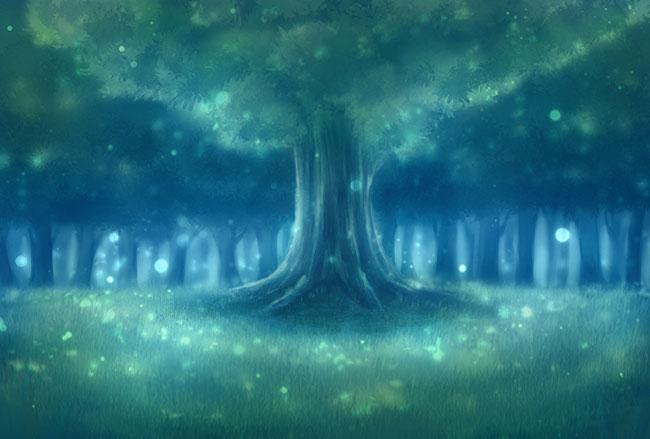 ①むかしむかし、真の森の王と思われる巨大な大木がありました。