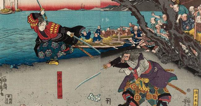 歌川芳虎 画 いつの時代も宮本武蔵は大人気