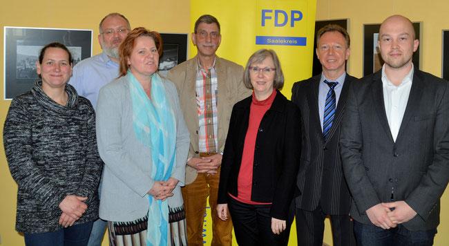 Der Vorstand des FDP Kreisverbandes Saalekreis