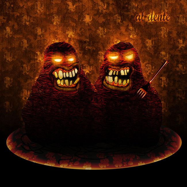 """""""Al Dente"""" / Jaquette de CD / Dessin + infographie  / Kinder-k 2006"""