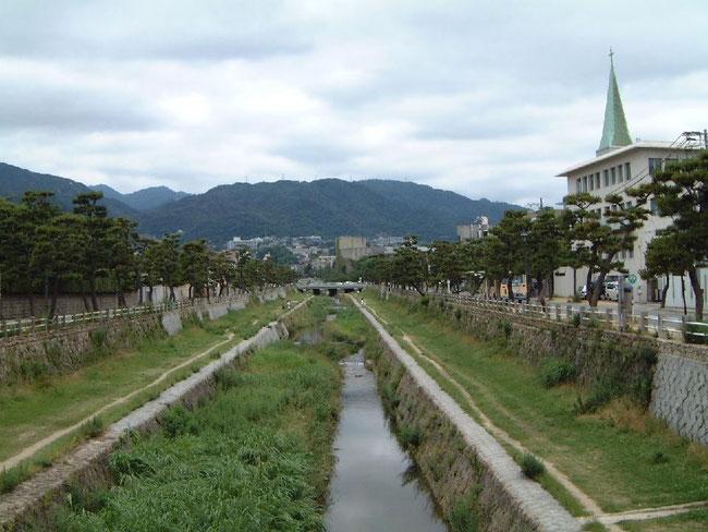 芦屋川の写真