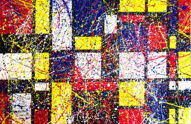 Pollock meets Mondrian, Statik trifft Dynamik.
