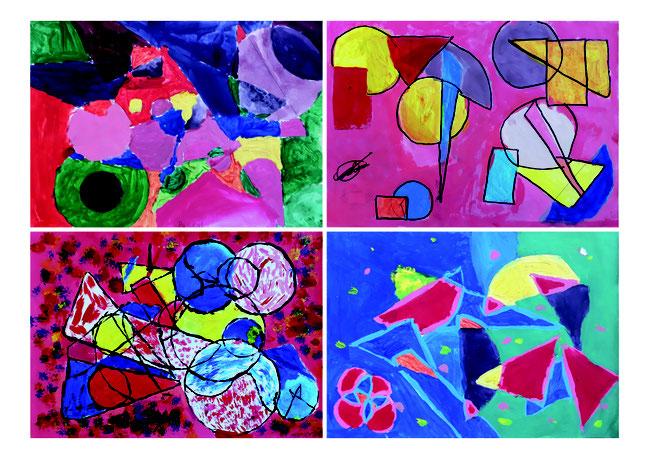 Geometrische Formen, a la Kandinsky.