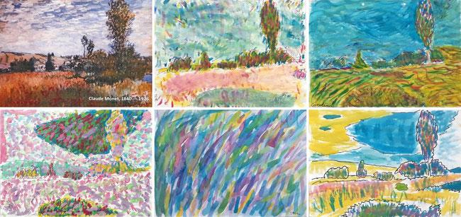 Claude Monet, Landschaft in der Provence.