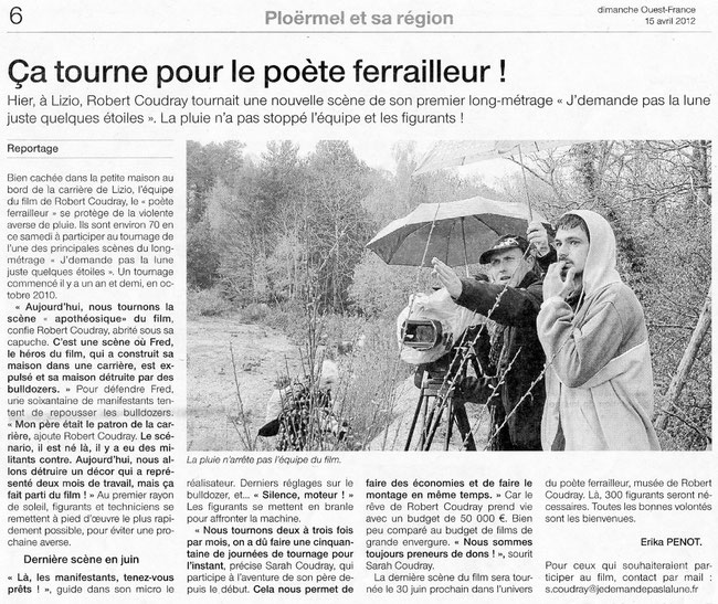 Ouest France _ 15 avril 2012