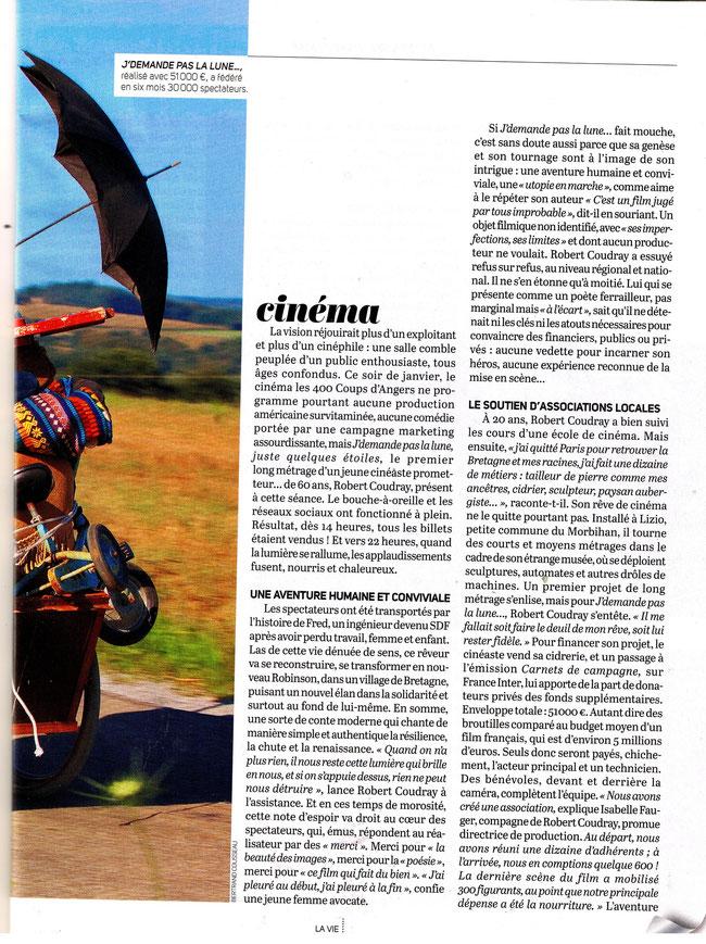 Magazine La Vie_20 février 2013