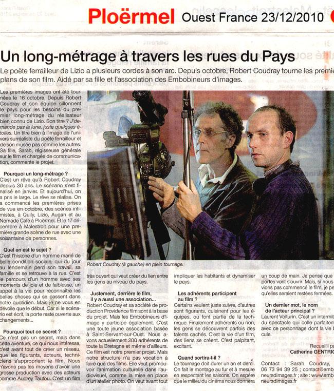 Ouest France _ 23 Décembre 2010