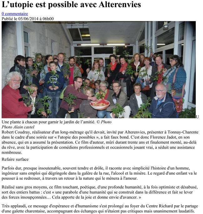 Journal Sud Ouest_6 juin 2014