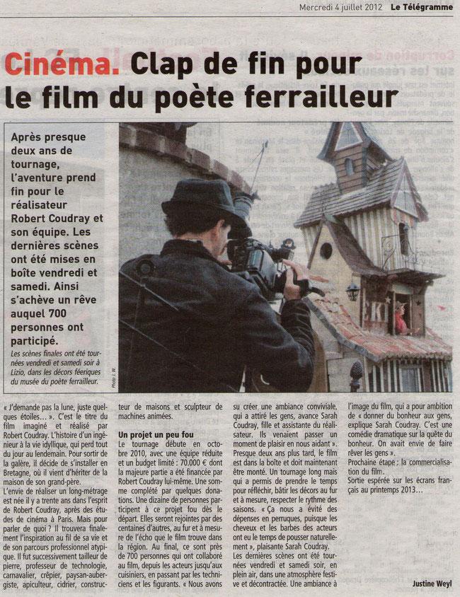Le Télégramme _ 4 Juillet 2012