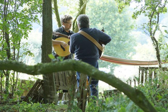 Letzte Probe auf dem Tennenfest in Willendorf, Foto: Leo