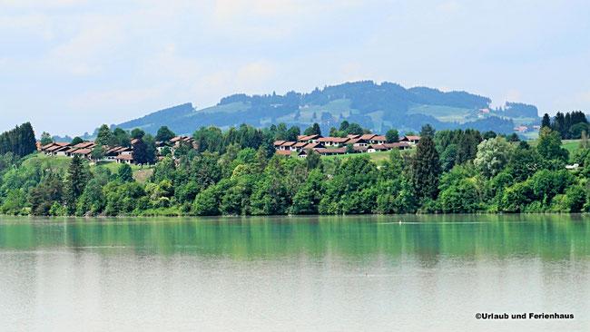Viele Häuser mit Panoramablick