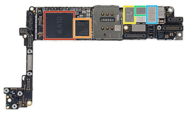 Das Board iPhone 7 Blick von oben