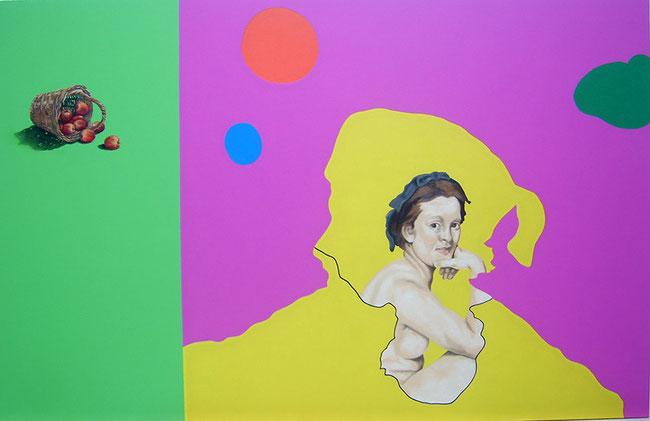 Almuerzo sobre la hierba  (Manet) Feedback serie / Mixed media / 63x 39.3 in / 2012