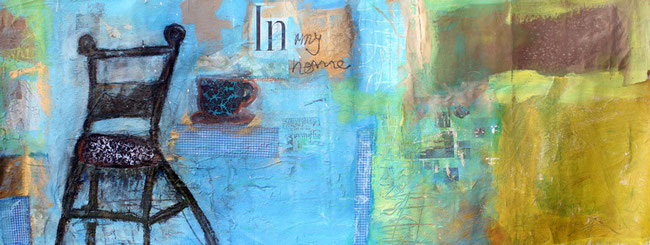 """En mi casa"" / Acrylic on acrylic sheet / 68 x 25 inches"