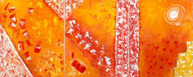 Senderos de luz de la serie Zupca Malka / Mixed media / 120 x 50 cms / 2014