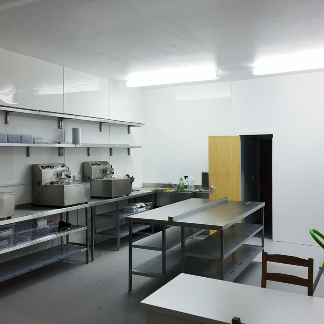 The Little Welsh Chocolate Company commercial kitchen renovation