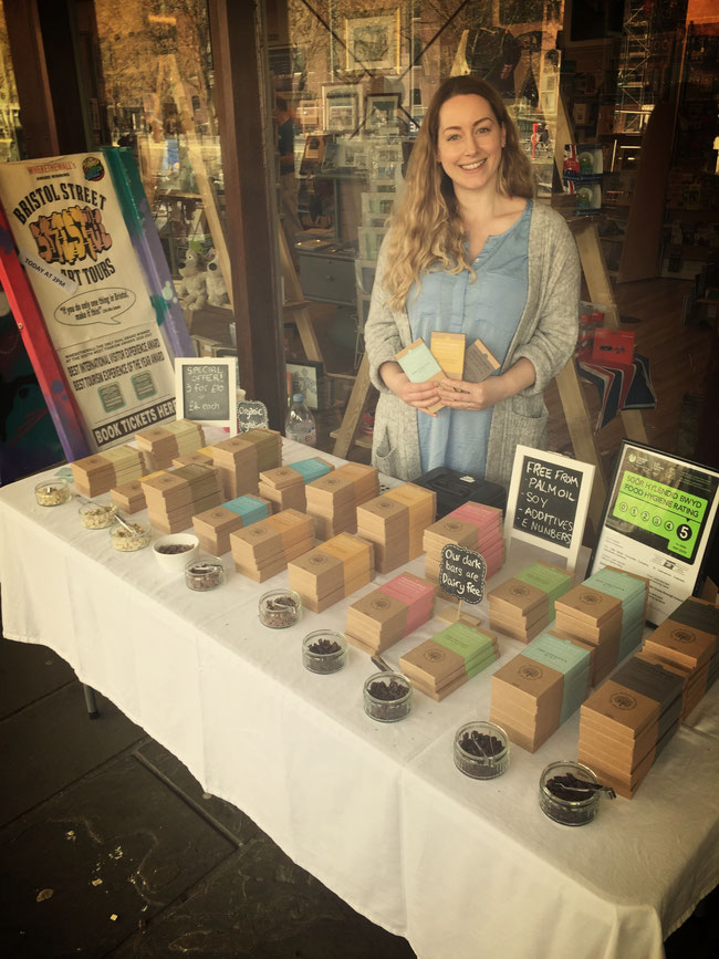 Alison Pope from The Little Welsh Chocolate Company at Bristol Harbourside Market