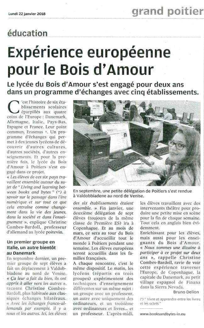 Centre Presse Poitiers, 22.01.2018