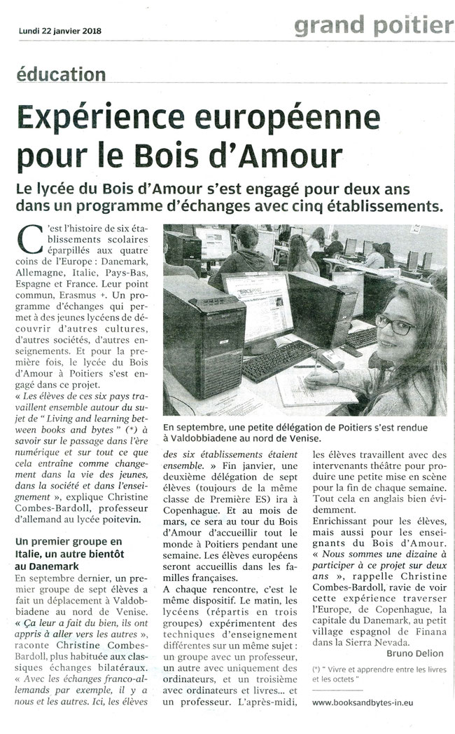 Centre Presse Poitiers, 22th January 2018
