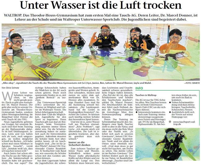 Artikel aus der Waltroper Zeitung vom 05.02.2020